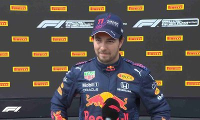 Sergio Perez of the Red BullAC Racing is disappointed to not get the pole position at the grid for the Emilia Romagna Grand Prix on Sunday, April 18, 2021.