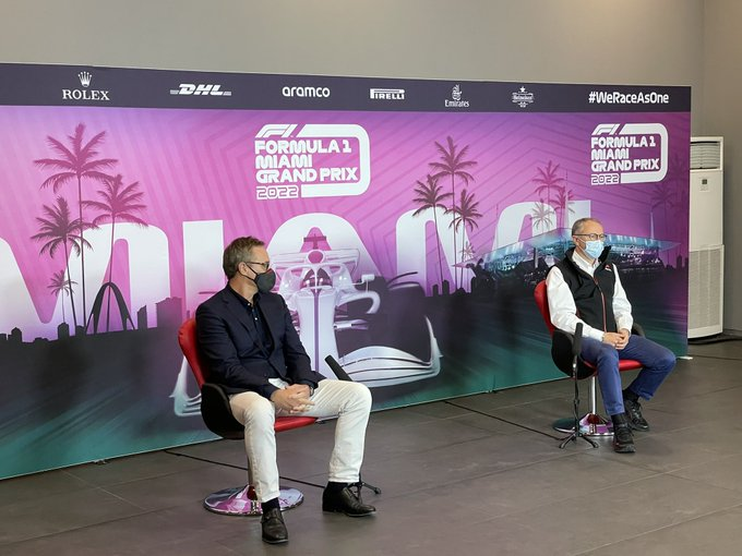 Greg Maffei and F1 authorities reveal the addition of Miami Grand Prix to the 2022 calendar.