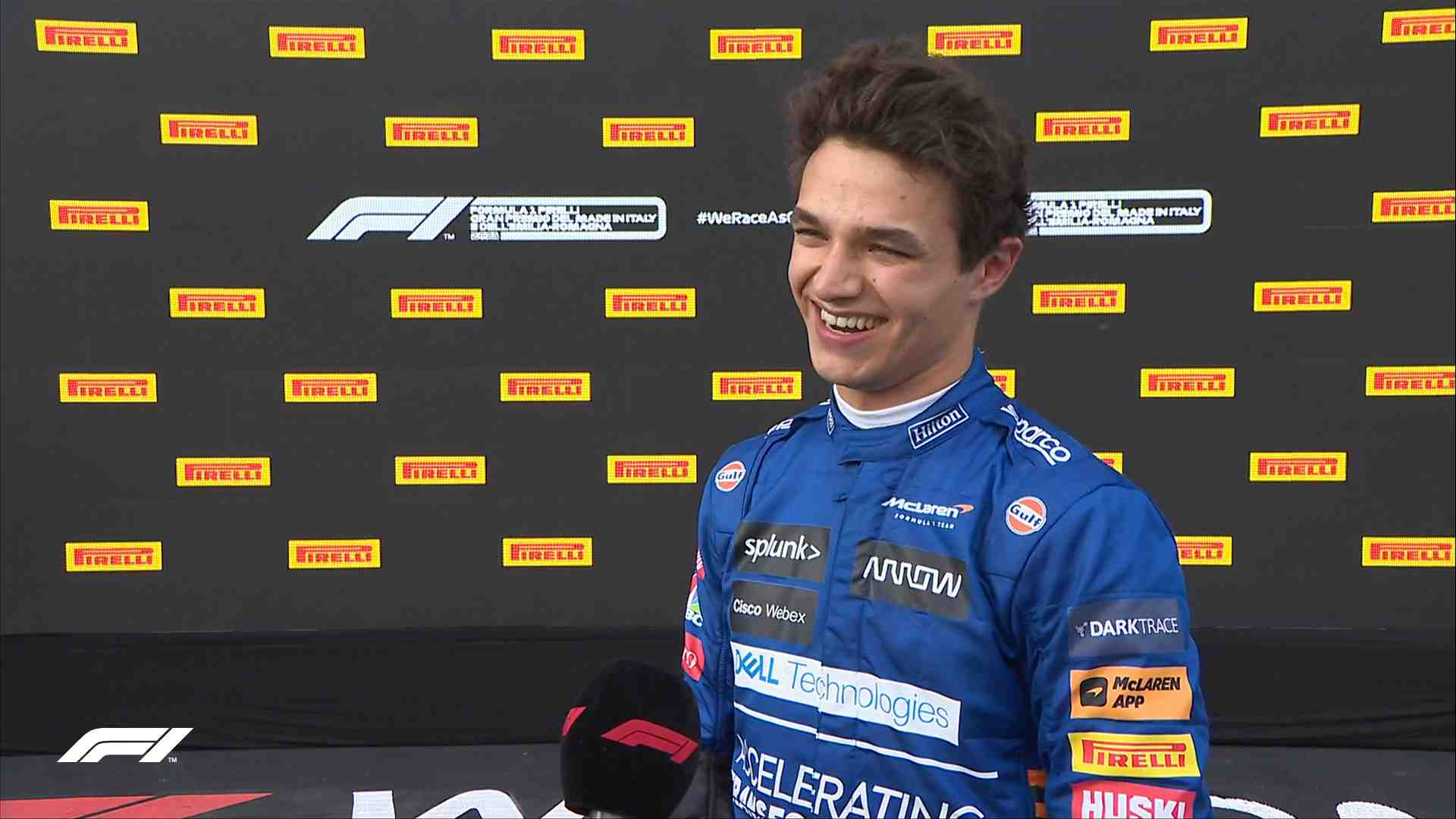 Lando Norris claims P1 is worth the risk when Ferrari's Charles Leclerc missed the opportunity to go ahead of Max Verstappen at the Emilia Romagna Grand Prix.