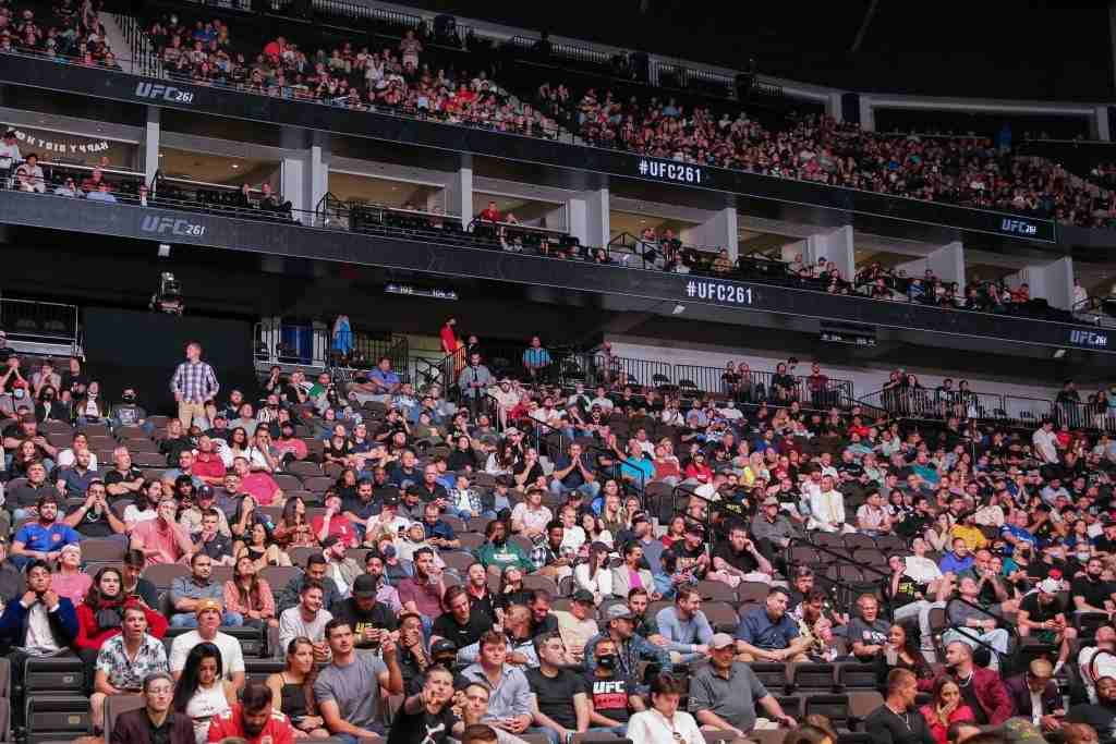 General view of the sold out crowd on hand for UFC 261