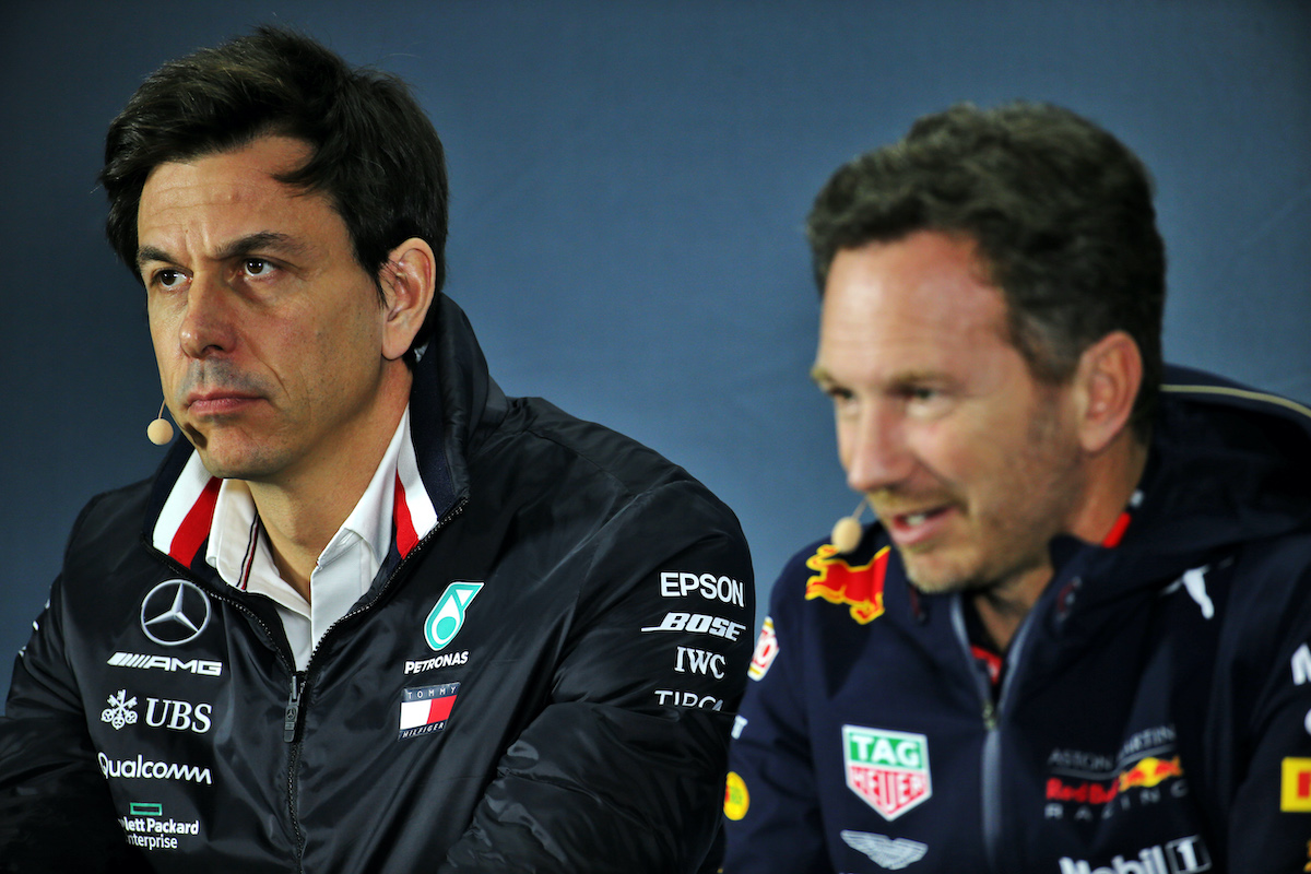 Horner also writes off all the comments and statements by Mercedes boss Wolff on Red Bull's growing stature in F1