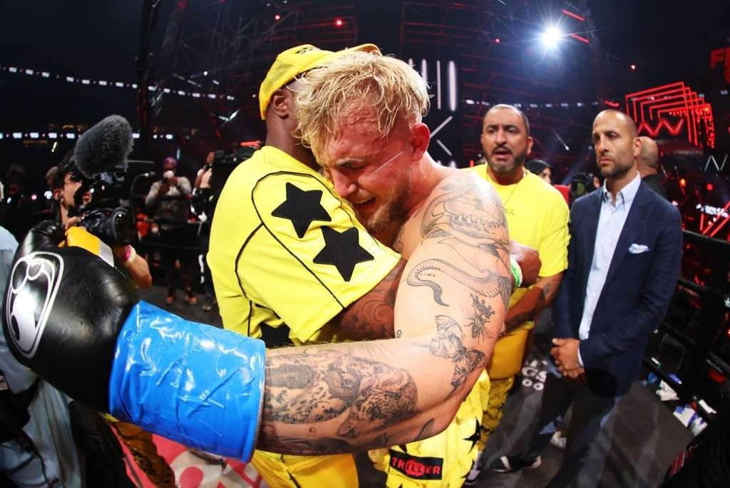 Jake Paul at his bout with Ben Askren