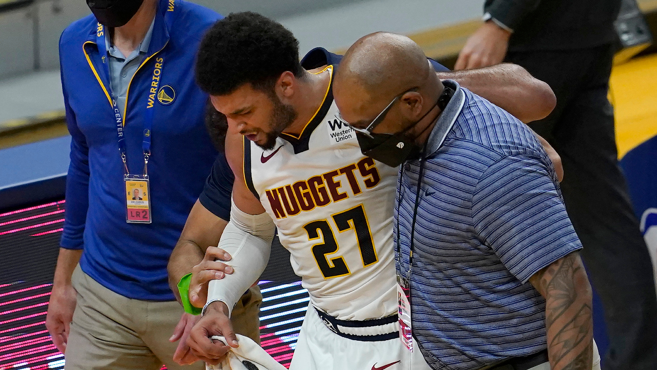 Jamal Murray injured at the game against warriors.