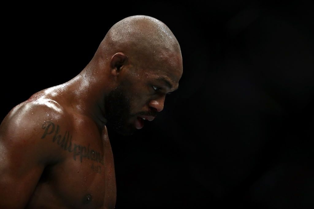 Jon Jones at the UFC 247 bout against Reyes