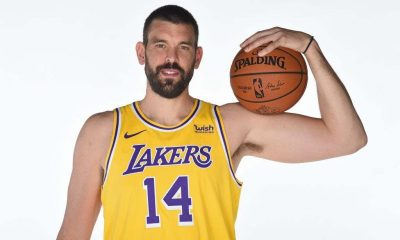 Marc Gasol #14 of the Los Angeles Lakers poses for a portrait during NBA content day at UCLA Health Training Center on December 08, 2020