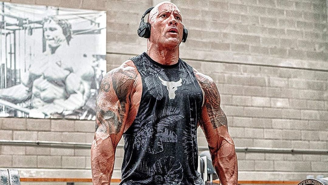 The Rock shares his leg workout routine on an Instagram post while preparing for his upcoming Superhero movie Black Adam