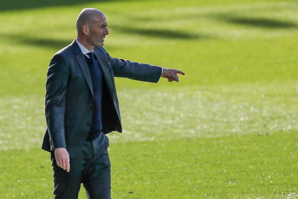Coach Zinedine Zidane of Real Madrid (Photo by David S. Bustamante/Soccrates/Getty Images)