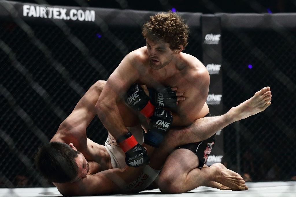 Ben Askren engaged in a fierce fight at ONE championship.