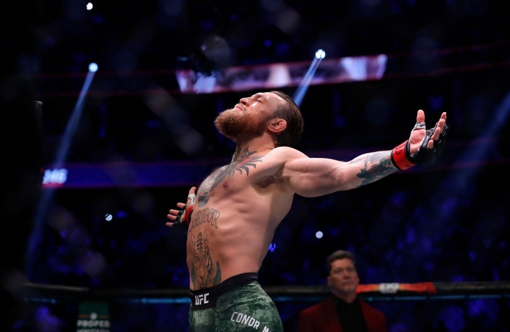 Conor McGregor revels in the support his fans give him.
