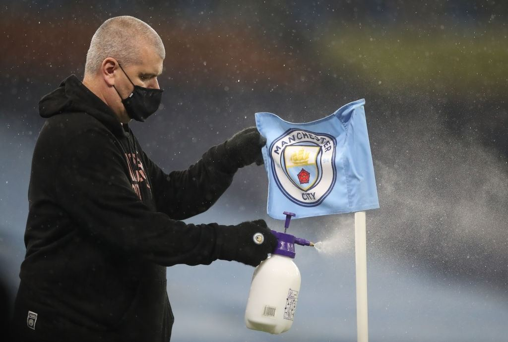 Premier League match between Manchester City and Liverpool (Photo by Martin Rickett - Pool/Getty Images)