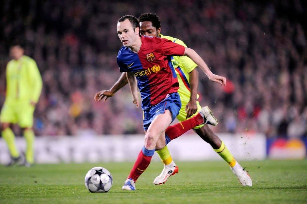 Andres INIESTA - 11.03.2009 - Barcelone / Lyon - Champions LEague 2008/2009 - (Photo : Quinho / Icon Sport via Getty Images)