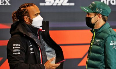 Sebastian Vettel of Scuderia Ferrari F1 claims Max Verstappen of red Bull Racing was faster but Lewis Hamilton of Mercedes AMG F1 was smarter, thus the Briton won the Bahrain Grand Prix on March 28, 2021.