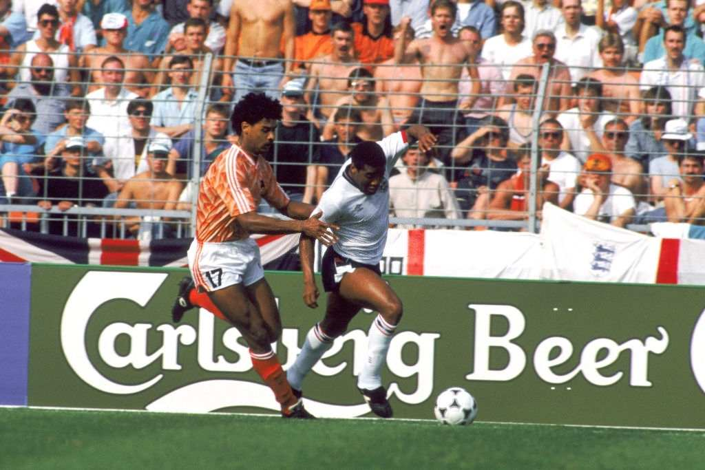 Holland's Frank Rijkaard (left) (Photo by Peter Robinson/EMPICS via Getty Images)