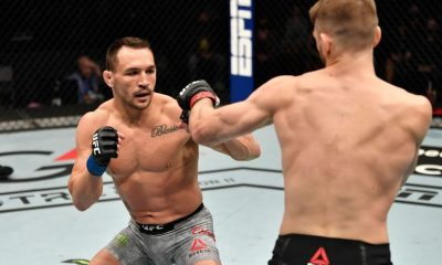 Michael Chandler engaged in a fierce battle with Dan Hooker.