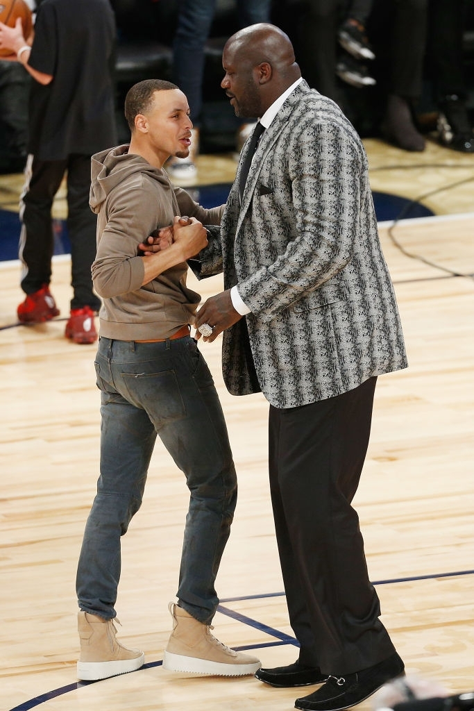 Steph Curry and Shaquille O'Neal