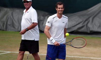 Andy Murray and coach Ivan Lendl during a training session.