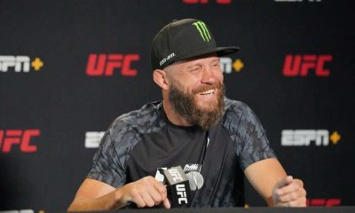 Donald Cowboy Cerrone meets with the press during media day in advance of the UFC Fight Night Vegas 26 at UFC Apex on May 5, 2021 in Las Vegas, NV.