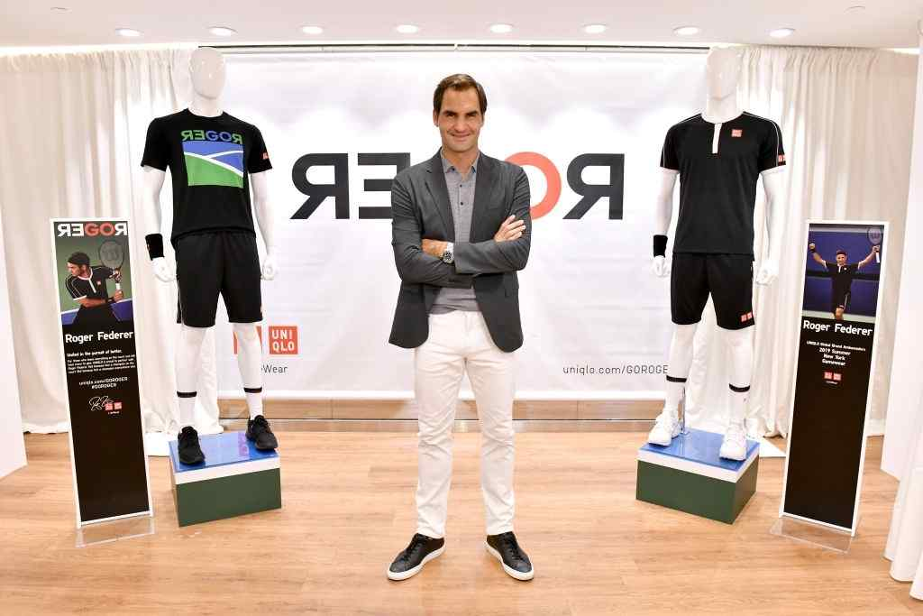 Roger Federer launches a new Uniqlo LifeWear Collection at the Uniqlo NYC Flagship with an appearance and an intimate conversation on August 20, 2019 in New York City. (Photo by Craig Barritt/Getty Images for Uniqlo)
