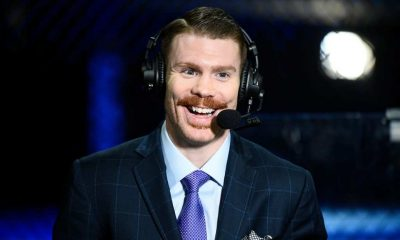 UFC lightweight and commentator Paul Felder smiles on camera during the UFC Fight Night at UFC APEX on November 28, 2020 in Las Vegas, Nevada