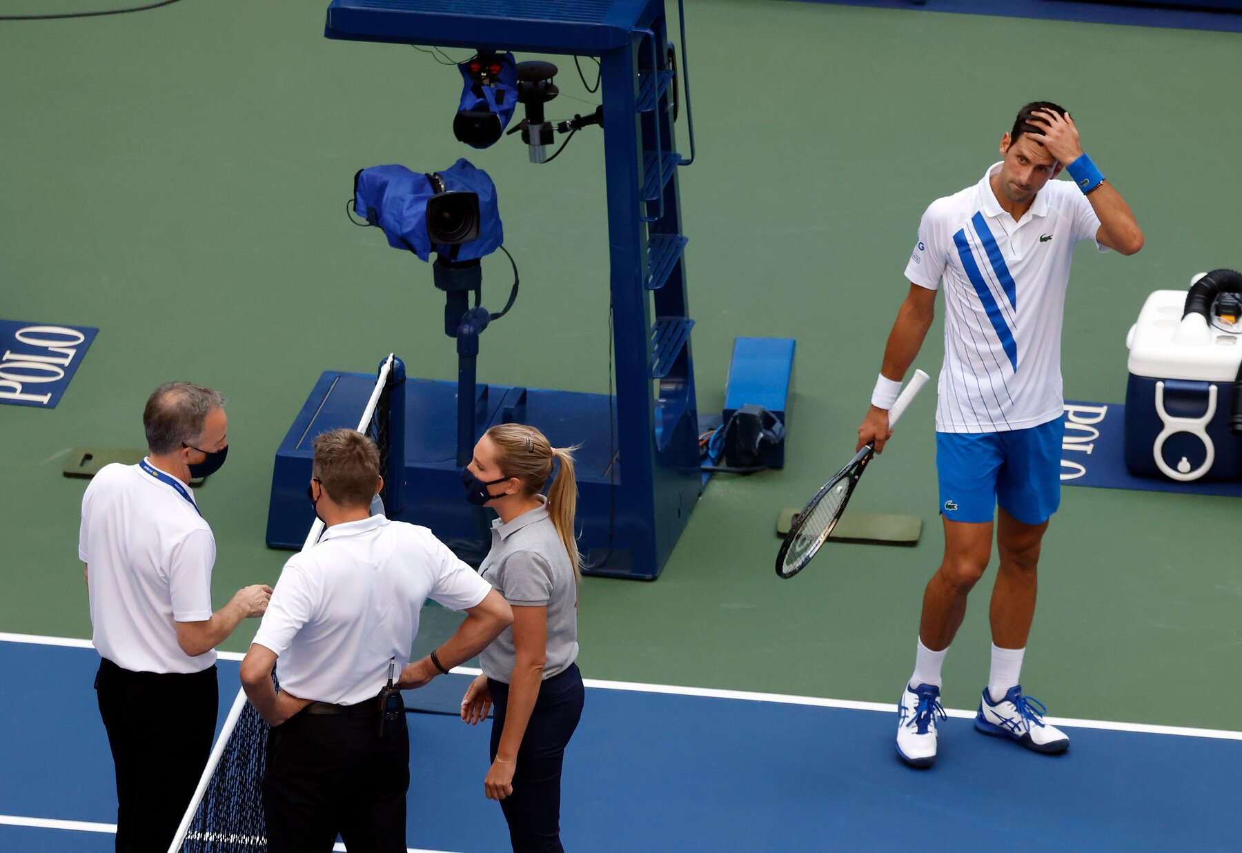 A line judge got arrested for murder charge right before the US open event
