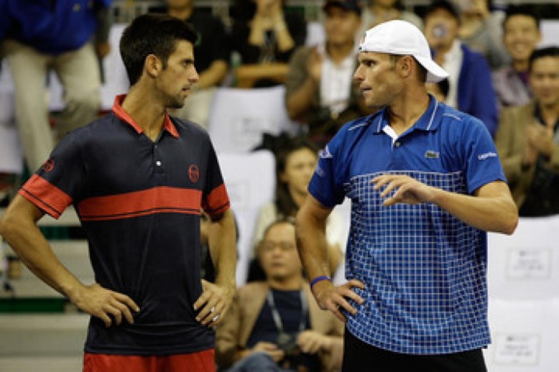 Andy Roddick entered into a heated argument with Novak Djokovic post match