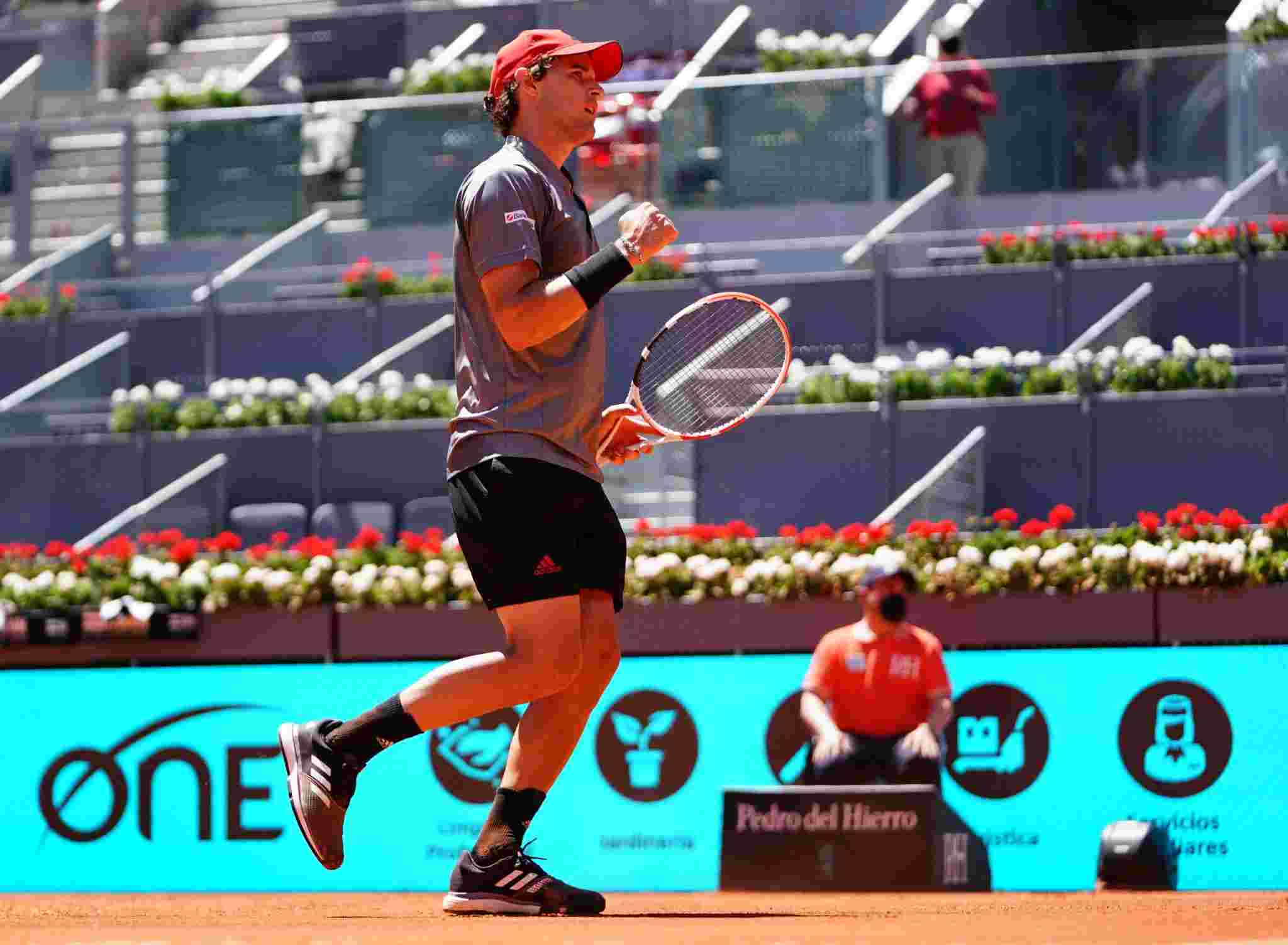 Dominic Thiem reached the semi-finals of the 2021 Madrid Open which was a surprise for the Austrian professional.