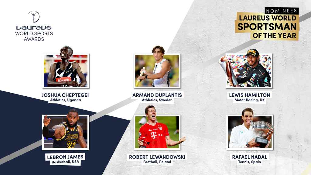 Rafael Nadal and the other nominees for the 2021 Laureus Sportsman of the Year.