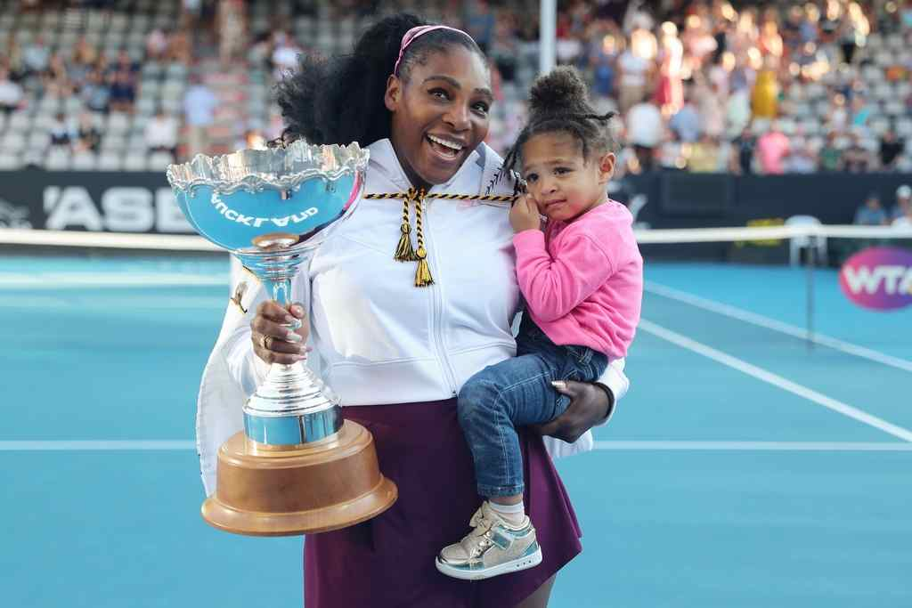 Serena Williams with her daughter Alexis Olympia Ohanian Jr.