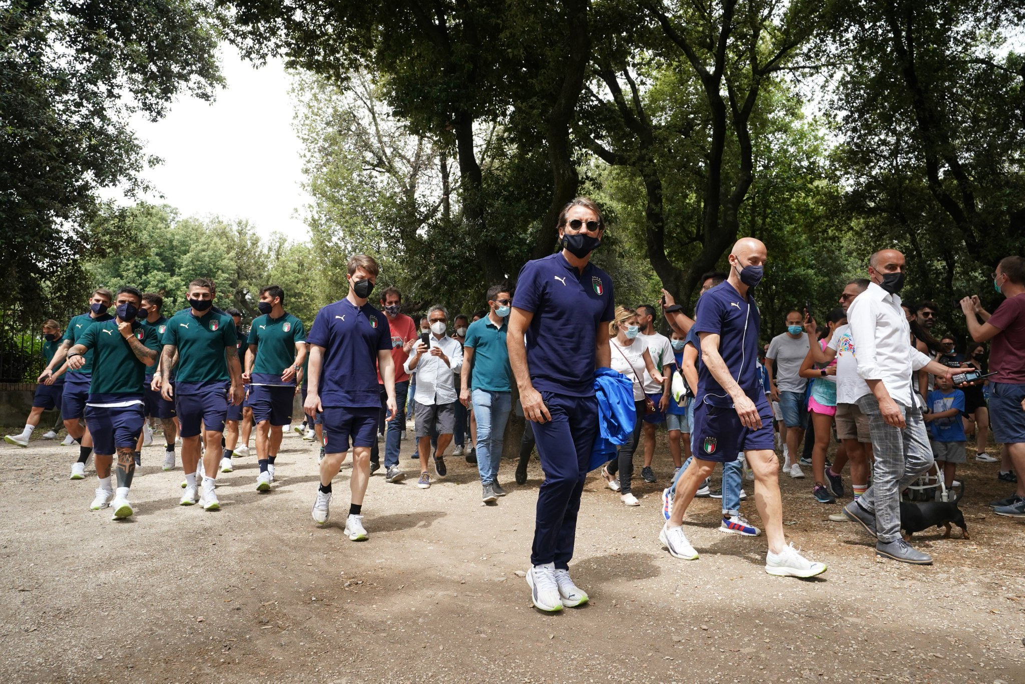 Italy players are arriving at the venue. (Image courtesy: Italy official Twitter handle)