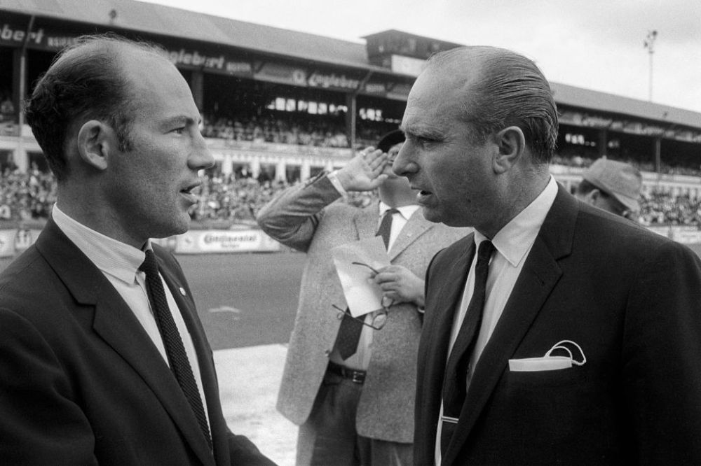 Juan Manuel Fangio and Sir Stirling Moss